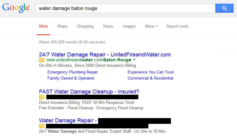 Water Damage Marketing - 1