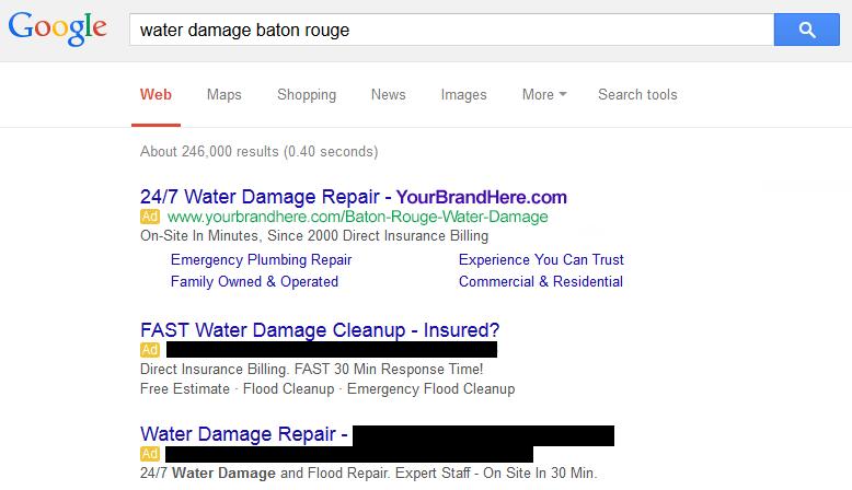 Water Damage Marketing for Franchises